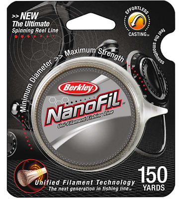 Berkley Nanofil 12LB x 150 Yards, Fishing Line, 5.4KG Clear Mist