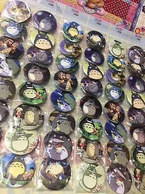6pcs TOTORO 45mm Plastic Badge Brooch Pin Birthday Party Lolly Bag Gift