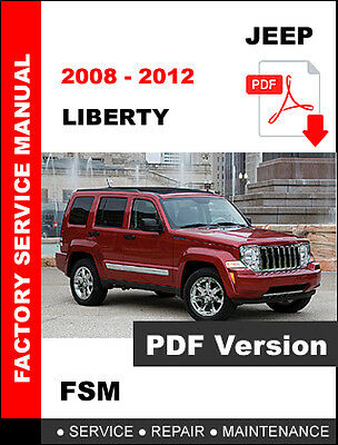 Jeep Liberty 2008 2009 2010 2011 2012 Workshop Service Repair Shop Fsm Manual