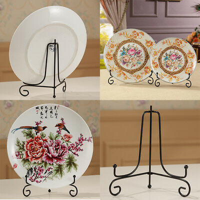 """4""""~12"""" Iron Easel Bowl Plate Art Photo Picture Frame Holder Book Display Stands"""