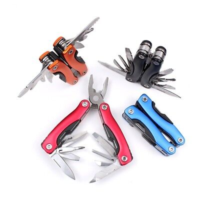 Outdoor Survival Stainless Steel Multi Tool Plier Knives 9 In 1 Portable Compact