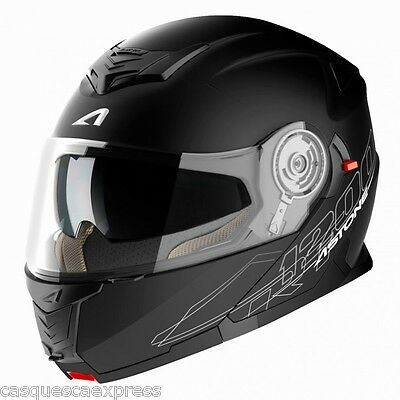 Casque Scooter Moto Astone Modulable Rt1200 Noir Mat