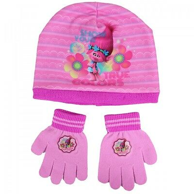 Trolls Hat and Gloves Set - One Size