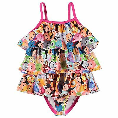 Disney Baby Girls Tsum Tsum Frilly Swimwear Swimming Costume Swimsuit Summer