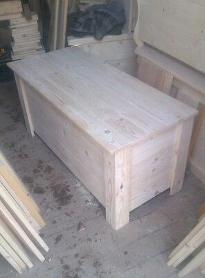 solid pine storage box toy box chest boxes