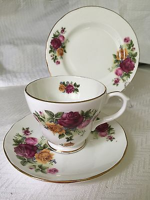 Duchess Roses Trio Cup Saucer Cake Plate Made In England