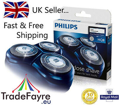 GENUINE PHILIPS HQ8 REPLACEMENT HEADS / CUTTERS / FOILS ~ UK Seller