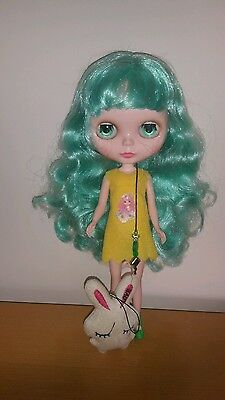 "Factory 12"" Neo Blythe doll with Green hair. Sleepy eyes added  UK SELLER"