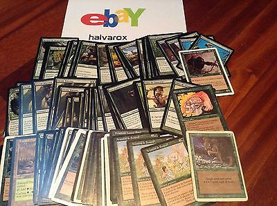 MTG - Lote 100 cartas verdes - Magic The Gathering