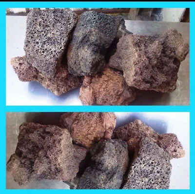 AQUATIC LAVA ROCK ORNAMENT AQUARIUM FISHTANK 4x5KG