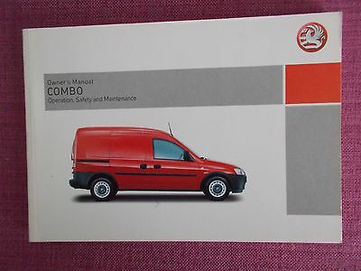 Vauxhall Combo Owners Manual - Owners Guide - Handbook. (Va 251)