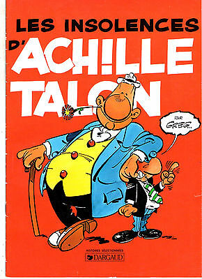 LES INSOLENCES D'ACHILLE TALON ¤ 1997 PUB CHAMOIS D'OR dargaud
