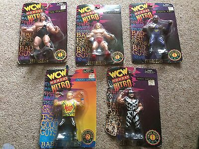 WCW WWE Hasbro Vintage Wrestling Figures The giant, Randy Savage, Collection.