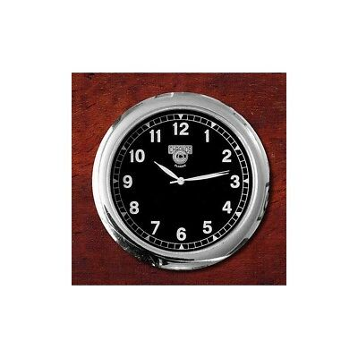 Dashboard Clock Chrome & Black - for classic cars