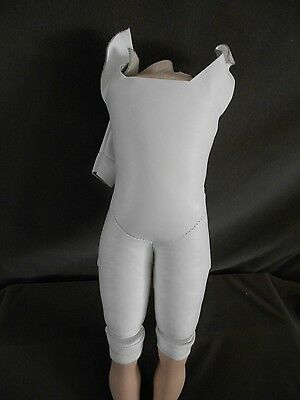 """9"""" Leather Body with porcelain legs, Total 12"""" body, Extremely Nice Condition"""
