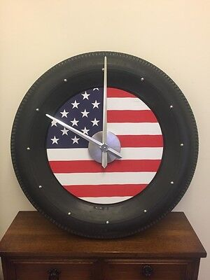Stunning Automotive Wall Clock - Vintage Tyre - Select your own clock face