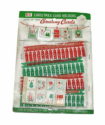 Vintage 60 Christmas Card Holders Hang Up Your Greeting Cards On The Line