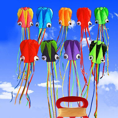 4M Single Line Stunt Octopus Power Sport Flying Kite Outdoor Activity with Line