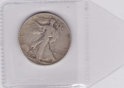 Usa 1939 Silver Half Dollar In A Used Good Fine Or Slightly Better Condition