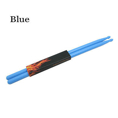 1 Pair 5A Blue Stick Nylon Stick Drum Sticks Fitness Exercise Drumsticks