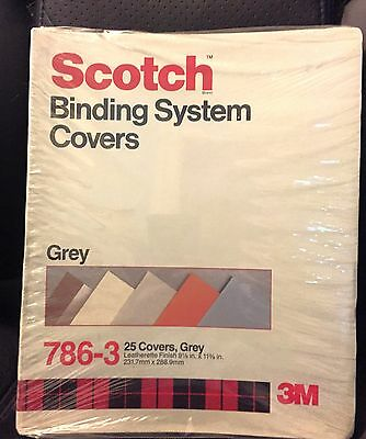 Scotch Binding System Covers 786-3 Grey, 25 Covers 9 1/8 in x 11 3/8 in