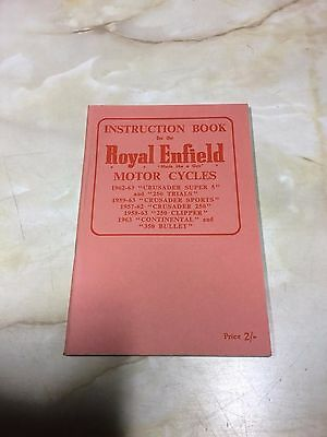 Royal Enfield Instruction book for various models [see description] [3-86]