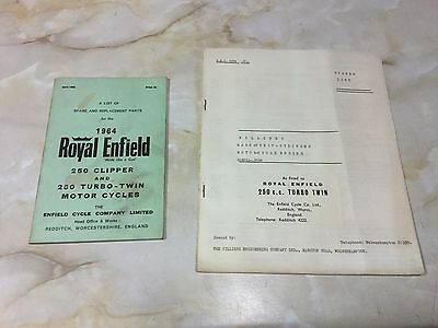 Royal Enfield 1964 250 Clipper / Turbo Twin Parts List [3-86]