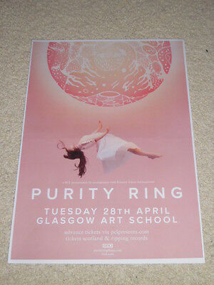 Purity Ring CONCERT POSTER live music show gig tour poster