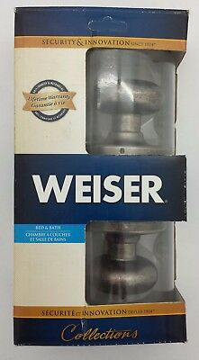 Weiser Bed & Bath Hancock Style Door Knob: Satin Nickel