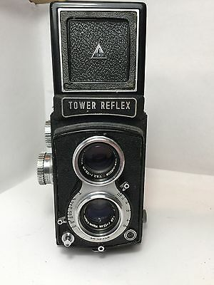 Tower Reflex camera with Nikkor-Q.C 75mm f:3,5 lens