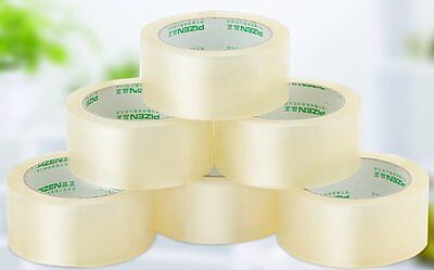 2.4/4.5/6cm*20/60/150m(y) Clear Packing Tape Carton Sealing Shipping Stationery