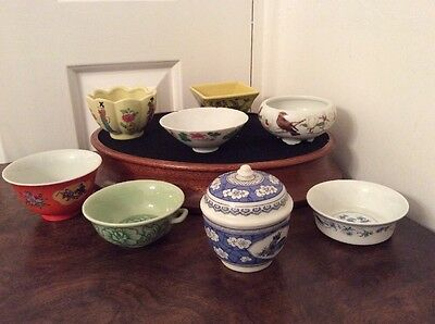 Franklin Mint Miniature Chinese Vases x 8 - Excellent Condition