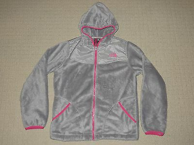 Girls The North Face Denali Osito Fleece Hoodie Jacket Youth Large 14-16 Gray