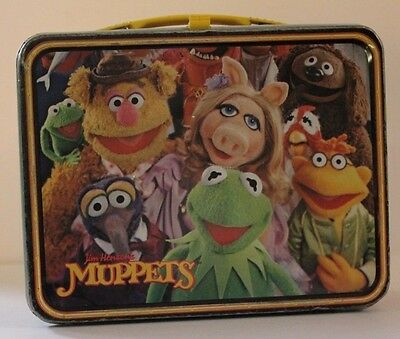 Vintage Metal Lunchbox W/plastic Thermos 1979 Muppets With Fozzy Bear