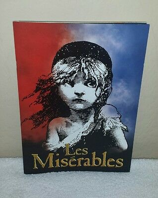 Les Miserables Musical Souvenir Program w/ Insert