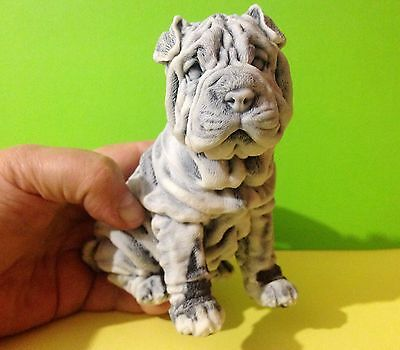 Shar Pei figurine marble chips Dog Souvenirs Russia Statue high quality