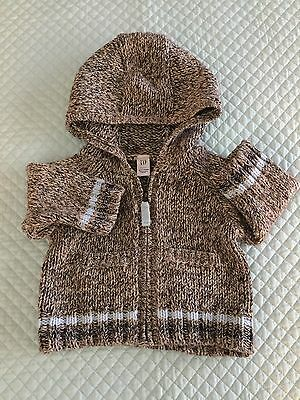 Baby Zip Sweater. Size 0-3 Mos. Gap Label sc