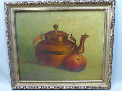 Fine Antique Willem Van Beek Still Life Oil Painting Listed Dutch Artist ca 1900