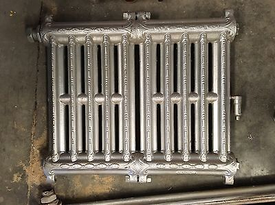 2 Antique Vintage Wall Hung Steam Radiators Victorian Style