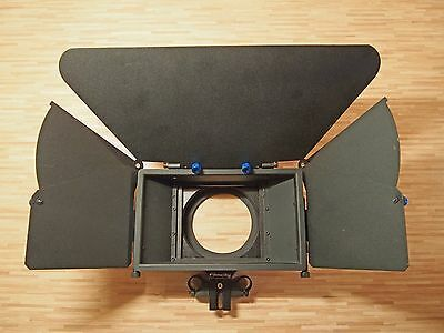 Matte Box w/French flags x 3, 4x4 filter holder, 15mm rod connection