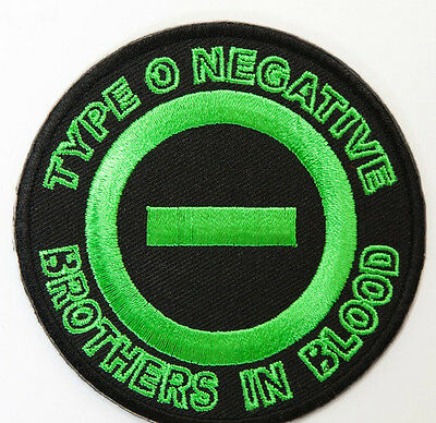 Type O Negative Patch 8cm Embroidered Iron on Badge Music Brothers in Blood Logo