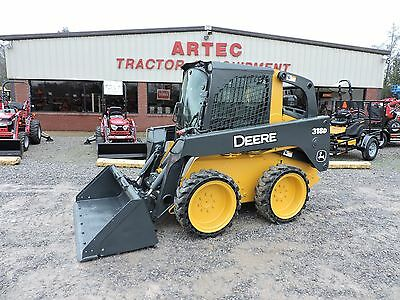 2011 John Deere 318D Skid Steer Loader - Bobcat - Fully Enclosed Cab With Heat!!