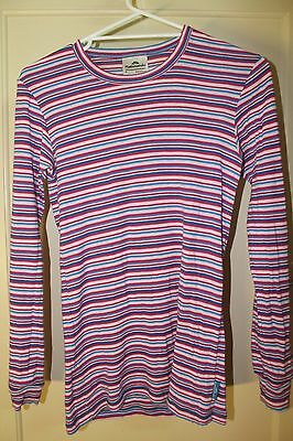 Kathmandu Striped Long Sleeved Thermal Top Size S