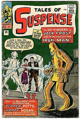 Tales Of Suspense #45. Marvel Sep 1963. 1st Appearance Pepper Potts. VG- Pence