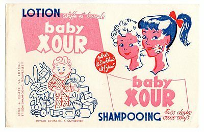Buvard publicitaire lotion shampooing Baby Xour