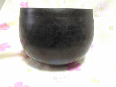 "6.181"" Japanese Vintage Buddhist Copper Bell Hand-pounded Forged G263"