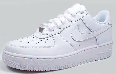 Nike AIR FORCE 1(GS) LOW 314192-117 'WHITE/WHITE' sz 3.5Y-7Y