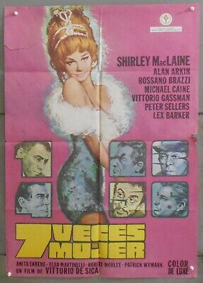 XJ03 WOMAN TIMES SEVEN SHIRLEY MACLAINE PETER SELLERS LEX BARKER orig SPA POSTER