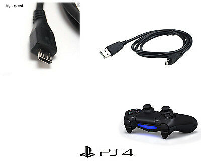 2 Meter High Quality PlayStation 4 & Xbox One Controllers Charge Lead - Black
