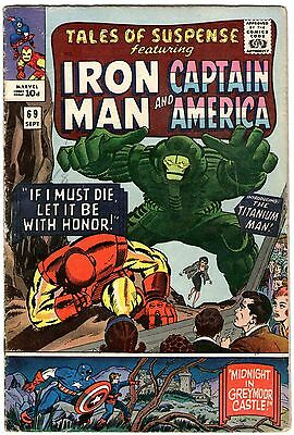 Tales Of Suspense #69. Marvel Sep 1965. Iron Man, Captain America. VG